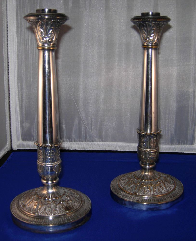 Silverplated candlesticks