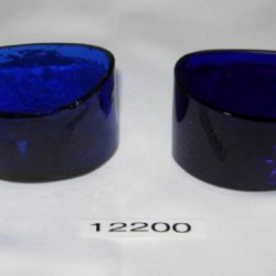 Cobalt blue glass dish liners