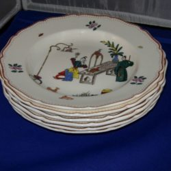 Set of porcelain soup bowls