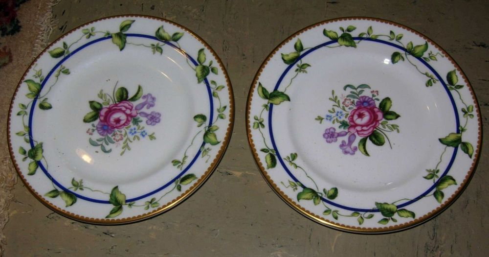 Pair of porcelain bread and butter plates