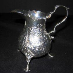 Sterling silver cream pot