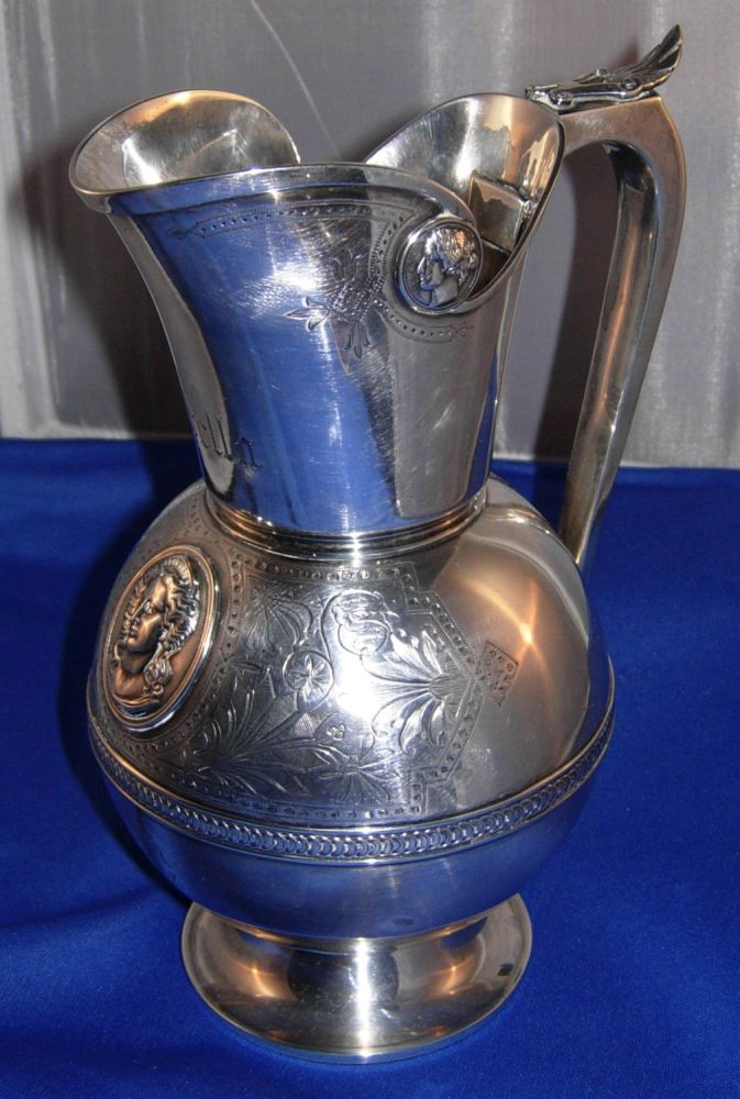 Coin silver pitcher