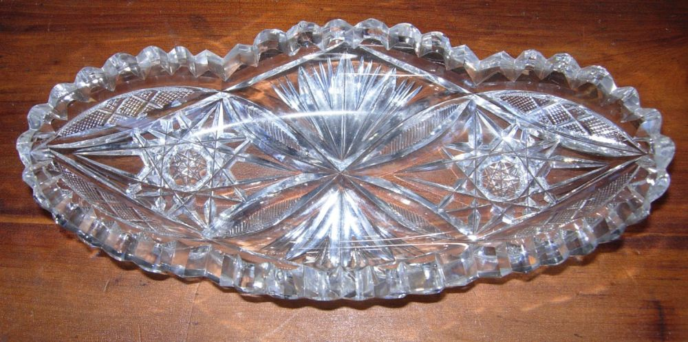 Cut glass relish dish bluebonnet antiques How can i cut glass at home